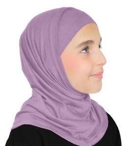 Girls Hijabs -back to School Muslim Scarf 2-PC LYCRA  Girl's Amira  Hijab