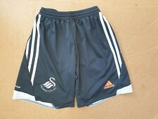 EE612 BOYS ADIDAS BLACK WHITE ORANGE SWANSEA CITY AFC FOOTBALL SHORTS UK  Y L