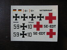 1/72 DECALS DORNIER SKYSERVANT ALLEMAGNE AMBULANCE CROIX ROUGE DECALCOMANIE