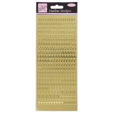 Anita's Peel Offs Outline Gold Small Numbers Stickers 368 Pcs | Card Crafts B97