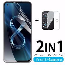 For Asus Zenfone 8, Soft Hydrogel Film Screen Protector + Camera Lens Soft Film