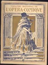 Programme ancien THEATRE NATIONAL DE L'OPERA COMIQUE Saison 1921-1922 Mignon
