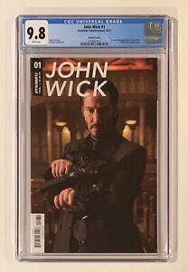 JOHN WICK #1 COMIC • CGC 9.8 • KEANU REEVES PHOTO COVER VARIANT • Dynamite MOVIE