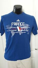 adidas 2010 South Africa FIFA World Cup Soccer France Futball T Shirt Small Rare