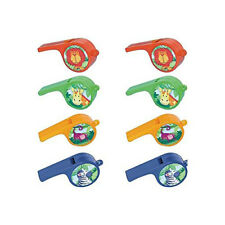JUNGLE ANIMALS WHISTLES (12) ~ Birthday Party Supplies Noisemakers Favors Toys