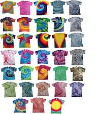 Multicolor Tie Dye T-Shirts Youth Kids XS S M L 100% Cotton Gildan by Colortone