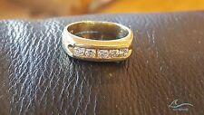 14k Yellow Gold Mens Round Diamond Wedding Engagement Pinky Ring Band 0.80 Ct