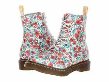 New Dr.Martens DOC Pascal White Floral Wildpoppy Women's Size: 8 US/ 6 UK/ 39 EU