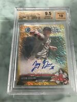 2017 Bowman Chrome Jason Groome Gold Shimmer Auto 9.5/10