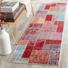 "Multi Colored Safavieh Valencia Polyester Runner 2' 3"" X 8'"
