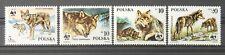 - Polen Poland 1985 Mi. Nr. 2975-2978 ** postfrisch MNH Wolf WWF