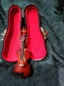 Dollhouse Miniature  Music 1:12  Viola  with Case