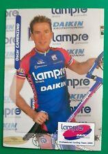 CYCLISME carte cycliste OSCAR CAMENZIND équipe LAMPRE DAIKIN 2000