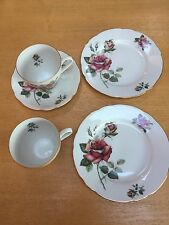 ODDS N ENDS OF CZECHOSLOVAKIAN PORCELAIN 'ROSES' TEA WARE