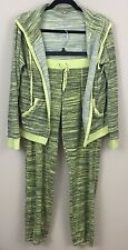 Juicy Couture Women's Space Dyed Hoodie Pants Set - Sunny Lime - Size L EUC