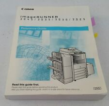 Canon ImageRunner 3045 3035 3030 3025 reference guide Owners Users Manual  Book