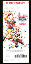 2013 Peach Bowl Ticket Texas A&M v Duke Manziel Last Game 15803