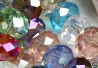 70pcs Crystal Loose Beads 6X8mm Multicolor A37