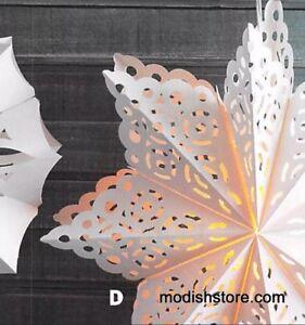 ROOST White Paper UNIQUE Snowflake Pendant Lamp Handmade Lighting 3D Indoor New