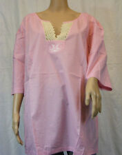 ★ YLYF Your life your fashion ★ Schicke Bluse Tunika ~ rosa ~ mit Häkelspitze