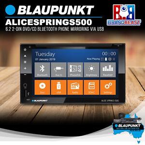 Blaupunkt ALICE SPRINGS 500 6.2 2-DIN DVD CD Bluetooth Phone Mirroring Via USB