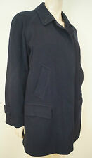 BURBERRY VINTAGE Ladies Black Wool & Alpaca Blend Lined Classic Winter Coat 10