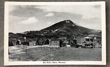 Postcard PC Montana MT Big Butte Mountain Town View