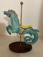 Franklin Mint Carousel Aqua Seahorse