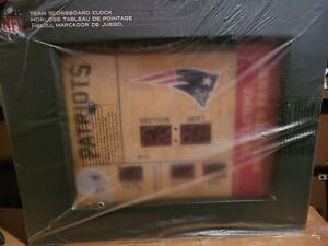 Team Sports America NEW ENGLAND PATRIOTS Bluetooth Scoreboard Wall Clock NEW