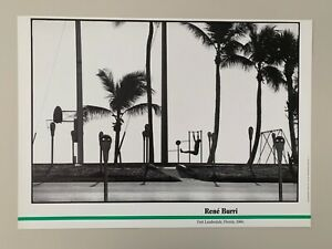 RENE BURRI,FORT LAUDERDALE,FLORIDA.1966, RARE AUTHENTIC 1987 ART PRINT
