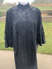 Victorian Black Cape Mourning Beautifully Detailed! Black Antique