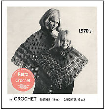 Mother and Daughter Poncho Crochet Pattern - Copy