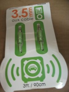 Luxtronic 3 ft (900 mm) length 0.138 inch (3.5 mm) GREEN aux cable SS04GN
