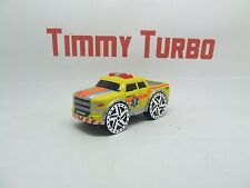 MONSTER RESCUE TRUCK CHROME WHEELS REAL TOY 75 MM BY 35 MM