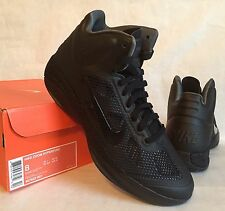NEW Nike Zoom Hyperfuse Men's Basketball 407622-001 Black/Black-Dark Grey Size 8