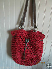 LADIES PURSE RED SACHEL DRAWSTRING  NWT