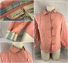 L.L. Bean Jacked XS Pink Nylon Poly Button Quilted Lined Worn 1x YGI 63gg