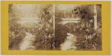 Plombières Pont Photo V. Franck Saint-Dié-des-Vosges Stereo VintageAlbumine