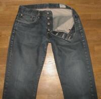 "lange "" G- STAR RAW 3301 "" Herren- JEANS / Hose in blau ca. W33"" /L35"""