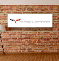 Corvette Vinyl Banner Sign Garage WorkShop Many Size Logo Dealer