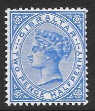 Gibraltar 1898 2 1/2 D brillante azul ultramar SG 42 (estampillada sin montar o nunca montada)