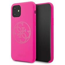 Guess 4G Silicon Collection Tone Case Hülle Cover Pink f.Apple iPhone 11 Pro Max