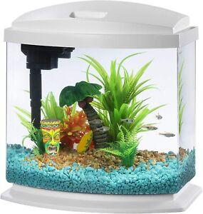 Aqueon LED MiniBow Aquarium Kit with SmartClean Technology White 2.5 Gallons