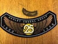 2008 HOG Rocker Patch & Matching Pin HARLEY-DAVIDSON Owners Group Members HD MC