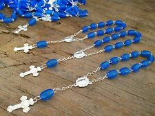 80 Pc Mini Rosary BLUE/Baptism Favors/ Recuerdos De Bautizo /communion Favors
