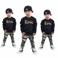 Fashion Kids Baby Boys Outfits Clothes T-shirt Tops +Long Pants 2PCS Sets