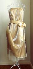 NEW DEBENHAMS DEBUT Vintage Style Gold Organza Net Petticoat Prom Dress UK 12