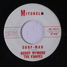 BUDDY WYMORE & KNAVES: Surf-mad 45 Hear! (tiny edge warp, clear stain ol)