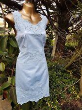 Karen Millen Pale Blue Lace Panel Fitted Dress UK 10-12