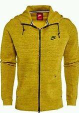 Nike Tech Fleece AW77 Mens Hoodie Jacket XL Bright Citron Black 559592 752